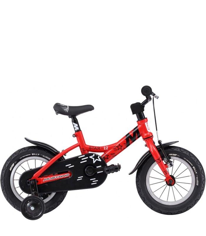 Bicicletta Per Bambini 12 Pollici Mustang Star 12 Rosso Nera
