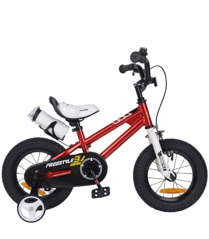 Bicicletta Per Bambini 12 Pollici Royal Baby Freestyle Rosso