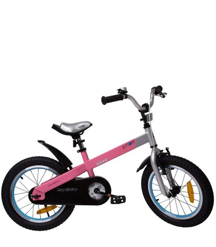 Bicicletta Per Bambini Da 16 Pollici Royal Baby Bttons Alluminio Rosa