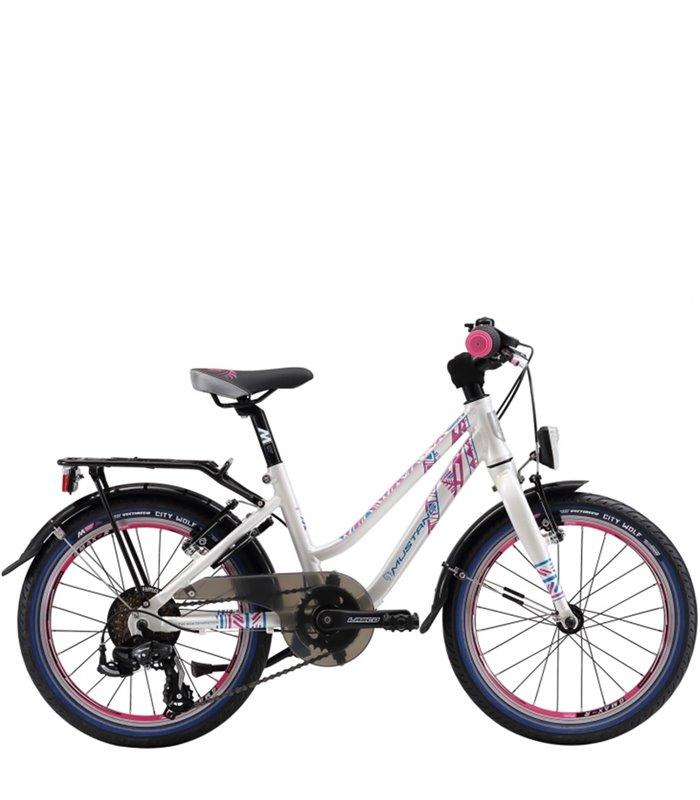 Bicicletta Per Bambini 18 Pollici Mustang Glitter 18 Girl Sl